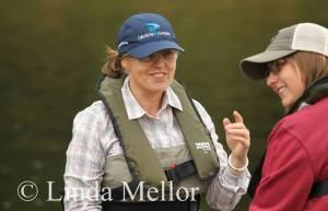 Its a salmon rod, not a trout rod! photo taken by Linda Mellor